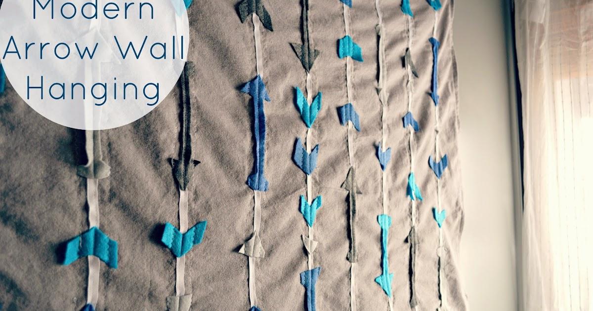 orchard girls diy modern arrow fabric wall hanging. Black Bedroom Furniture Sets. Home Design Ideas