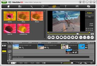 برنامج محرر الفيديو honestech Video Editor