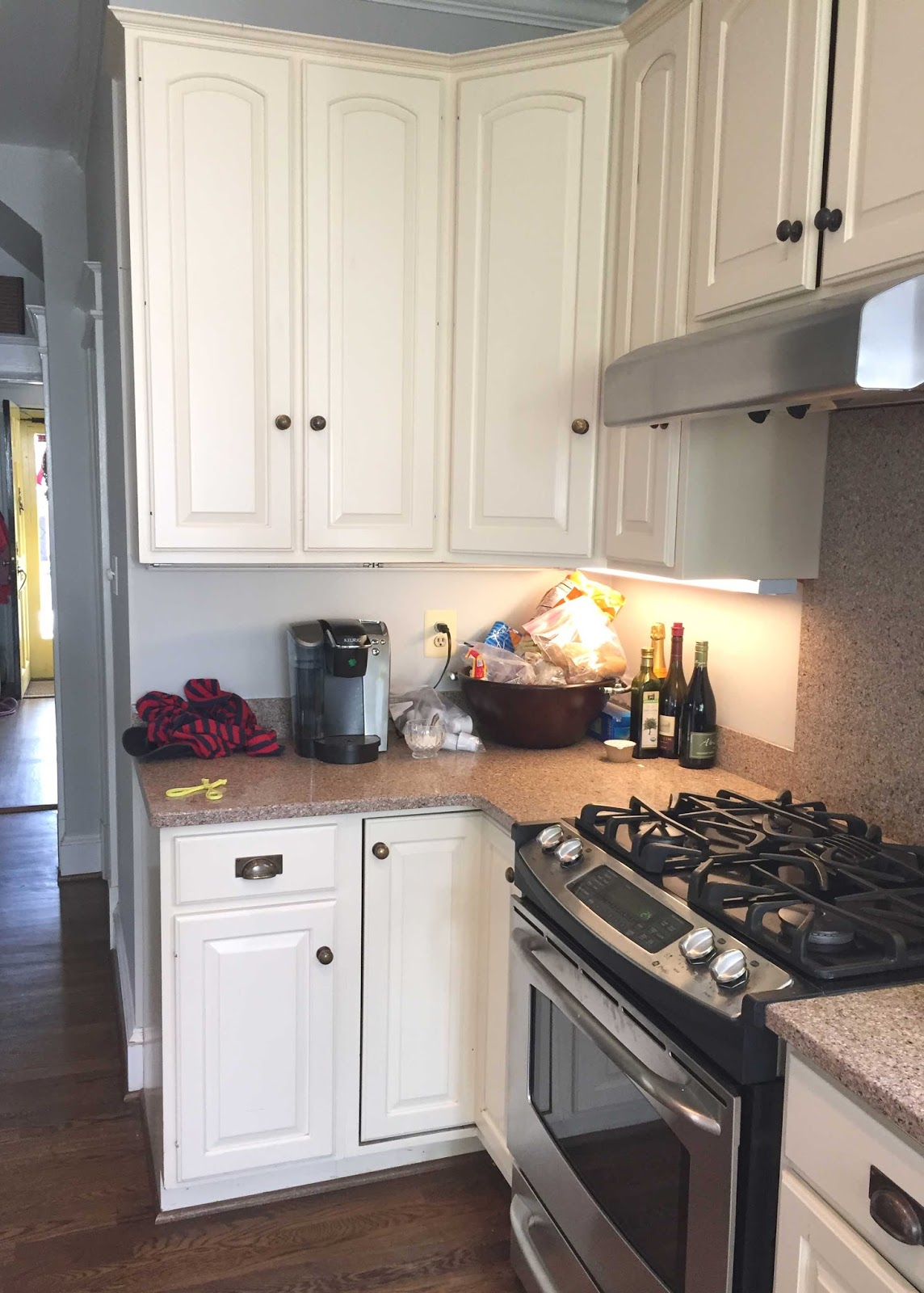 Grey Pinkish Kitchen Countertops