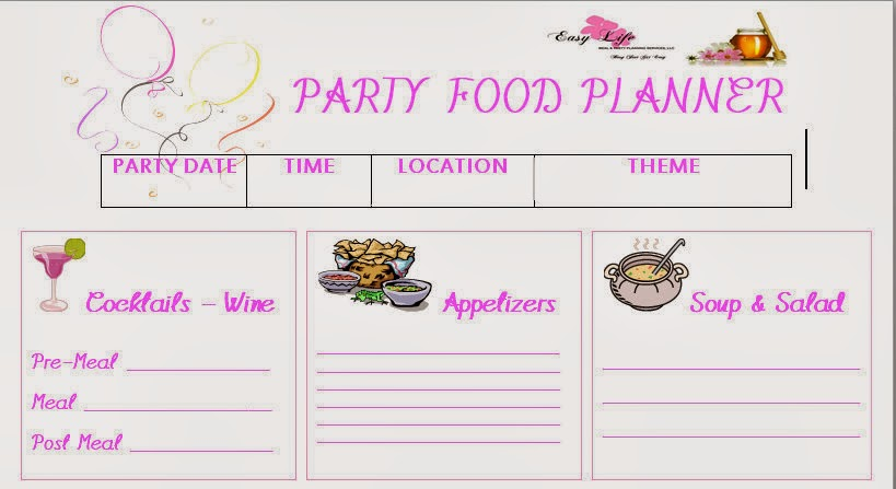 easy life meal and party planning holiday parties shopping