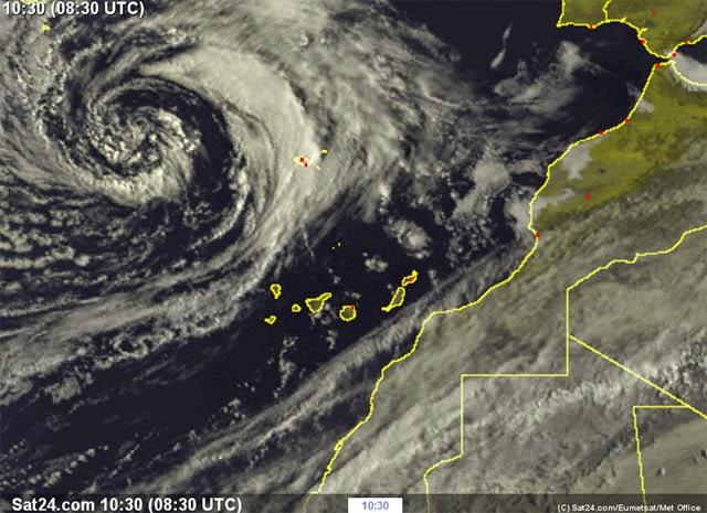 borrasca en Canarias 14 abril
