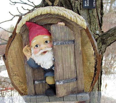 Garden gnome at Morton Arboretum