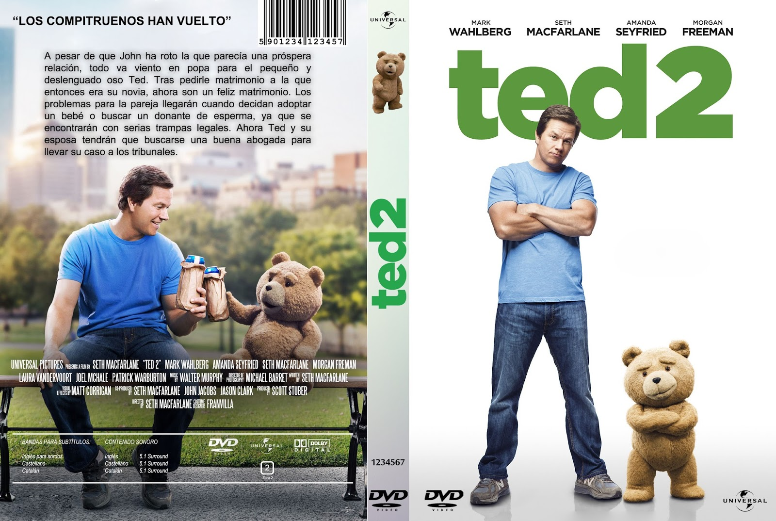 Download Ted 2 BRRip XviD Dual Áudio Ted 2   Custom   V5 por FRANVILLA