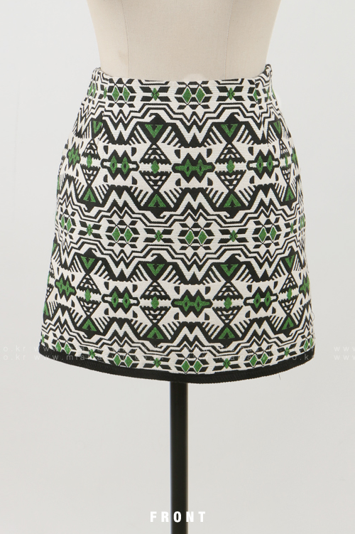Abstract Patterned Skirt