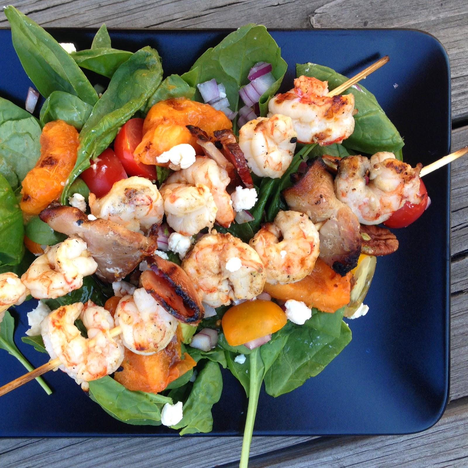 ... -So-SAHM: Grub It Up: Citrus Bacon Shrimp + Grilled Stone Fruit Salad