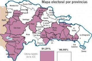 PLD triunfa en DN y en 16 provincias, y el PRD salió victorioso en 15