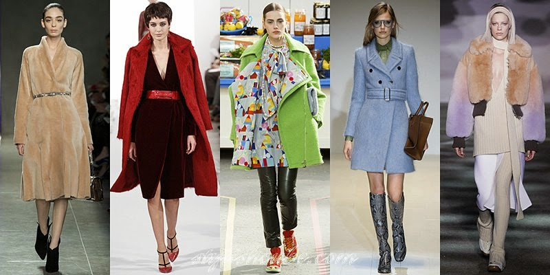 Winter 2014 - 2015 Women's Coats Fashion Trends