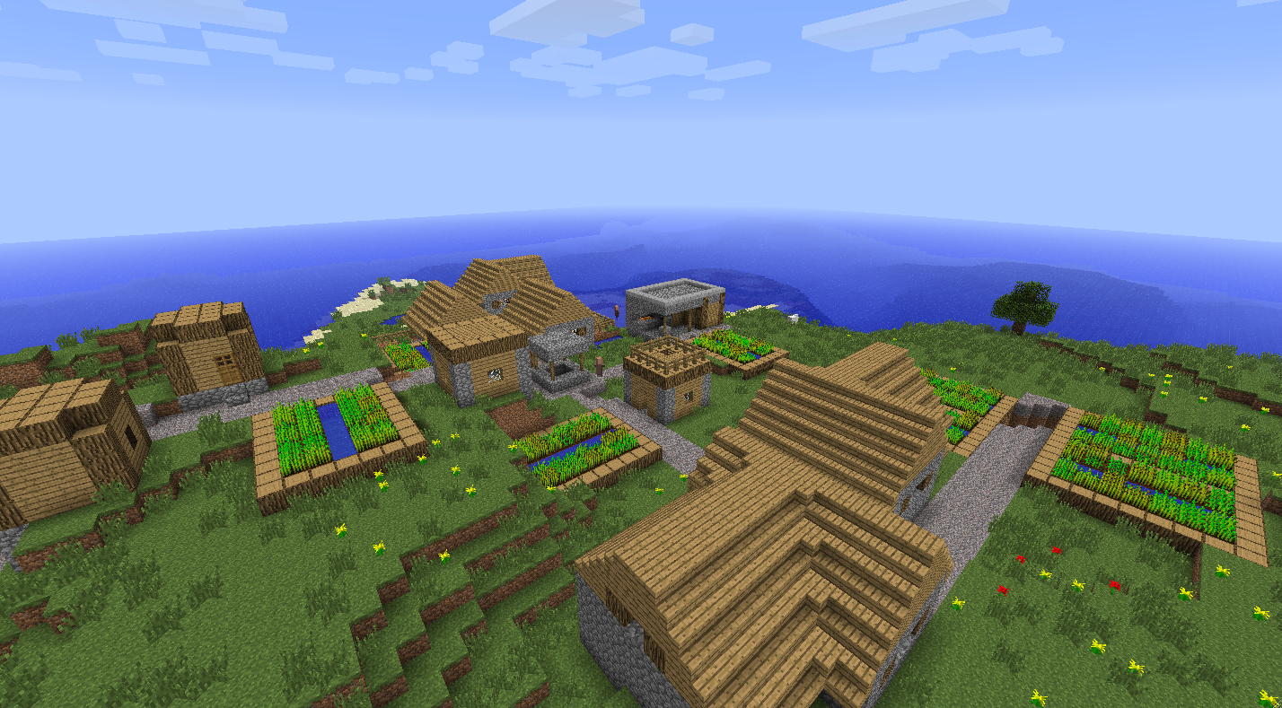 Very Best Minecraft Village Island Seed 1428 x 789 · 1277 kB · png