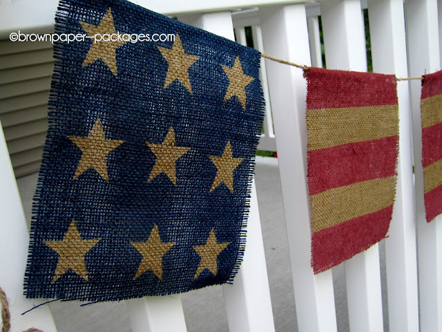 Be Different...Act Normal: Stars and Stripe Burlap Bunting