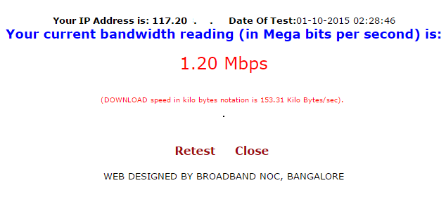 bsnl speed test