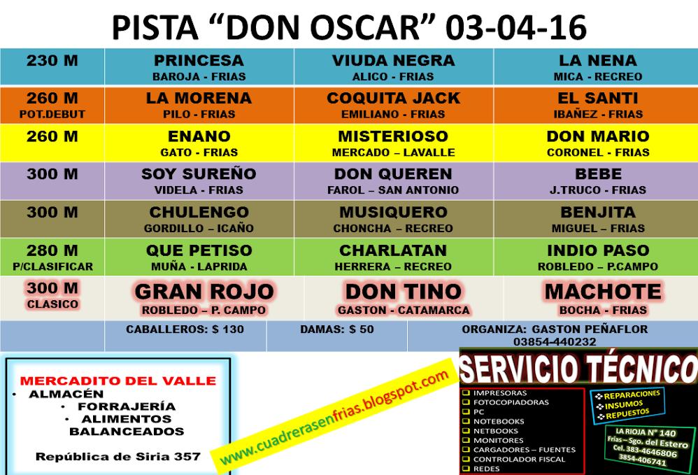 DON OSCAR - PROGRAMA 03-04-16