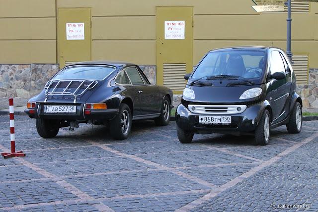 Porsche 911 и Smart