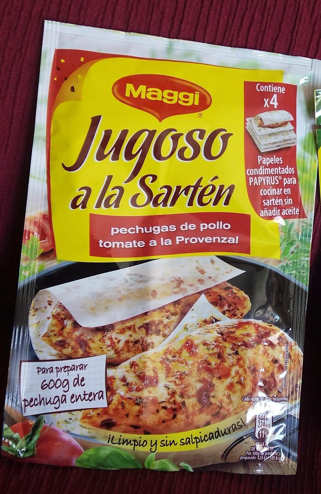 Jugoso a la Sartén de Maggi pechugas de pollo tomate a la provenzal