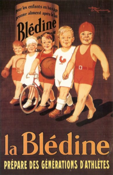 reproduction of vintage poster for baby food