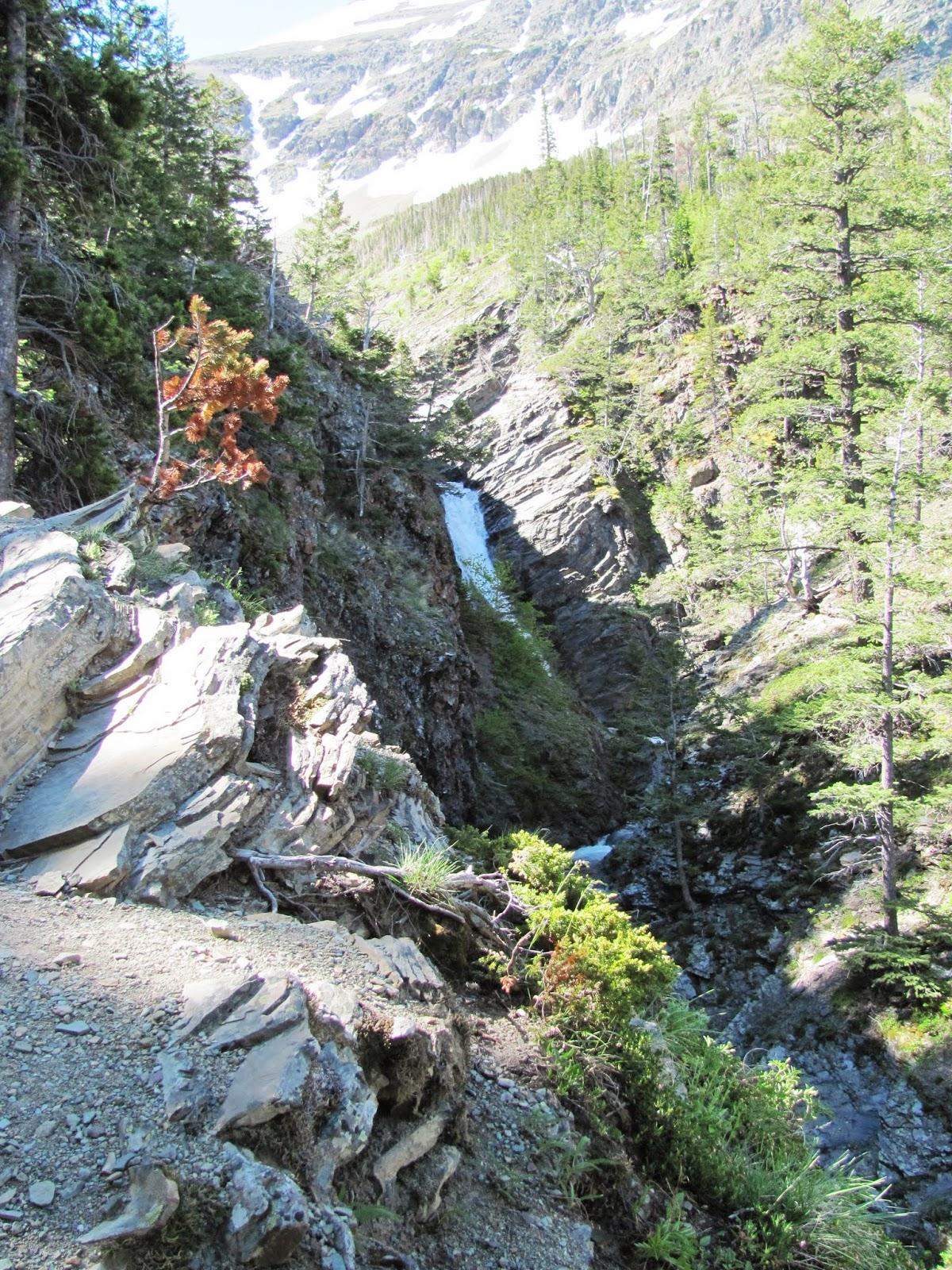 Appistoki Falls at Two Medicine at Glacier National Park in Montana