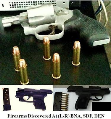 3 loaded pistols.