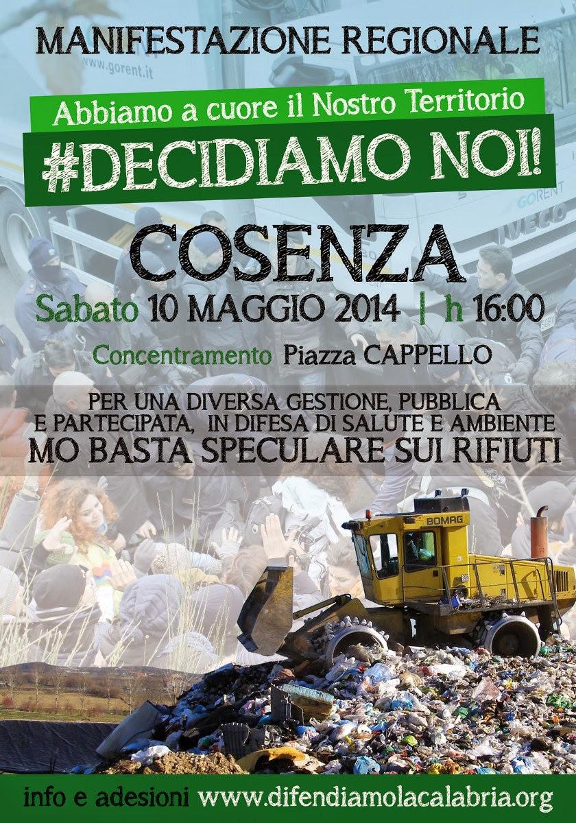 COSENZA - MANIFESTAZIONE REGIONALE 10 MAGGIO 2014