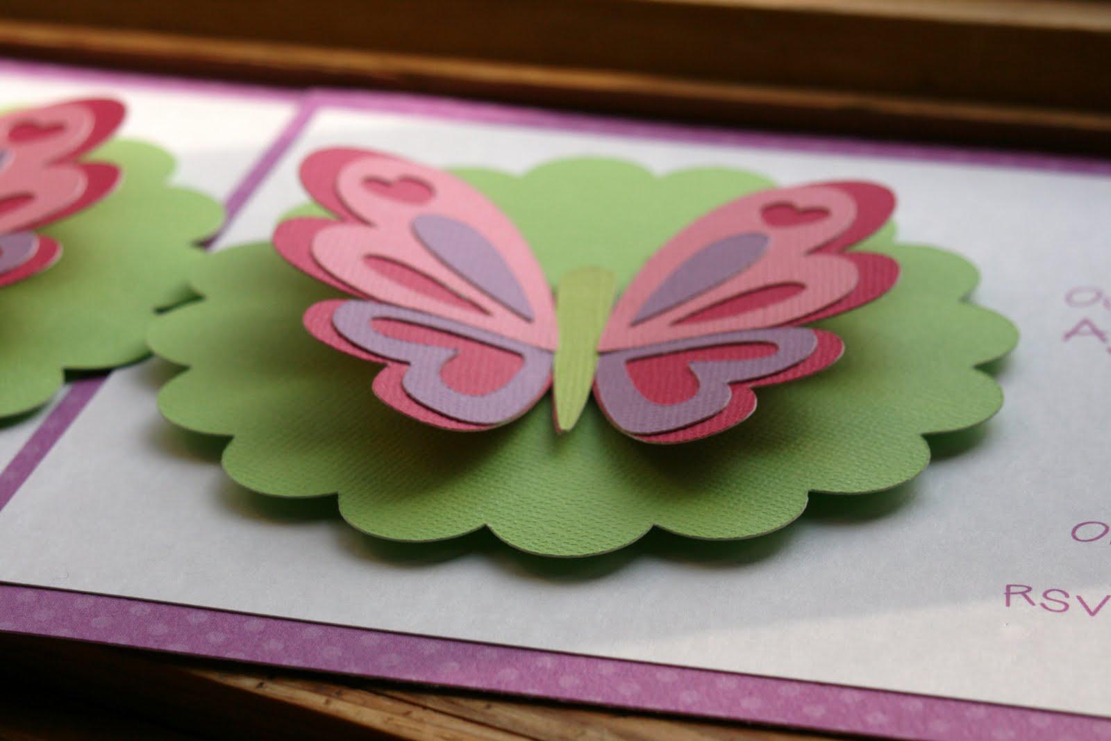 KT Designs Birthday Series Butterfly Birthday Party Invitations – Butterfly Birthday Party Invitations