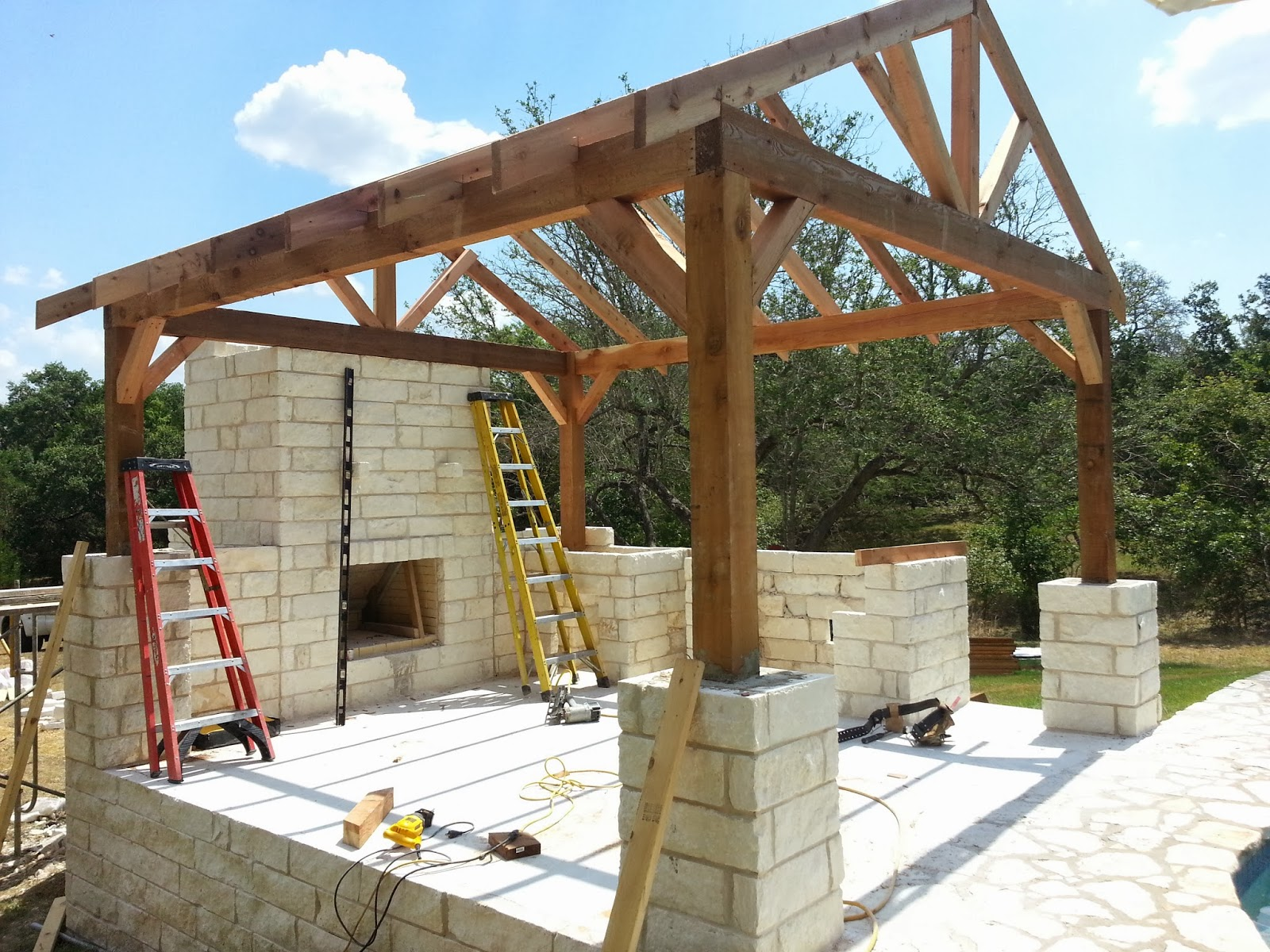 outdoor living space in Georgetown Texas