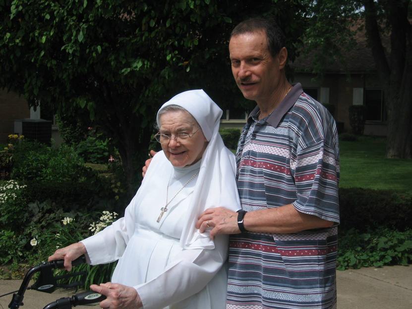 Con la zia Pierina