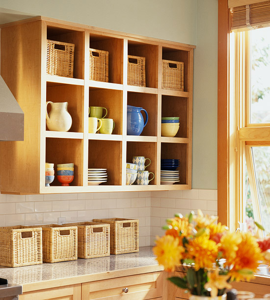 Storage Solution Simple Open Kitchen Shelves: Modern Furniture: New Ideas For Storage Solutions By Using