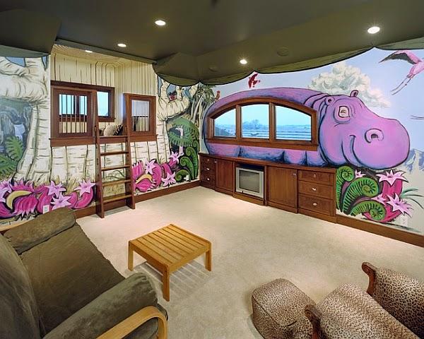 Dormitorios tem ticos divertidos dormitorios colores y for Dormitorios juveniles hipopotamo