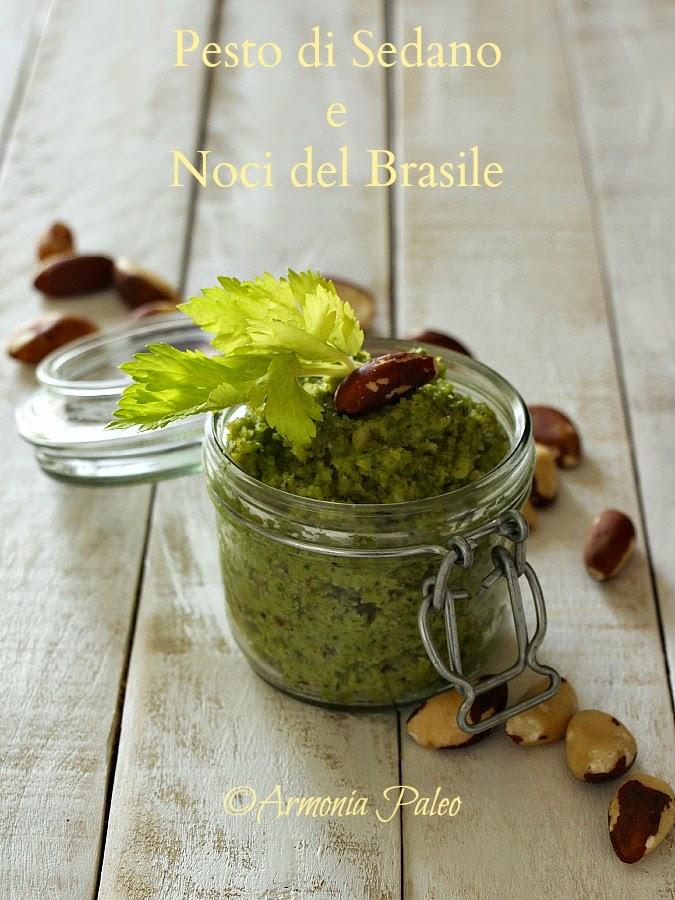 Pesto di Sedano e Noci del Brasile di Armonia Paleo