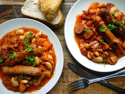 Sausage, Bean and Vegetable Casserole
