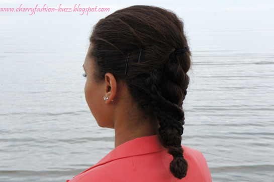 Half braided then twisted hairstyle, braided hairstyle,