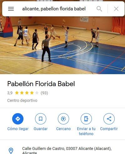 Ubicación Curso Karate en Pabellón Deportivo Florida Babel