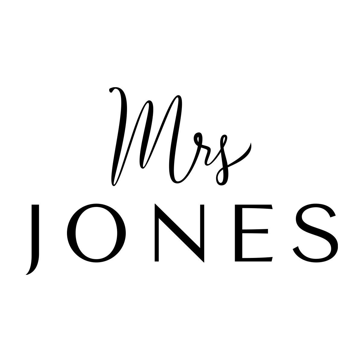 MRS JONES