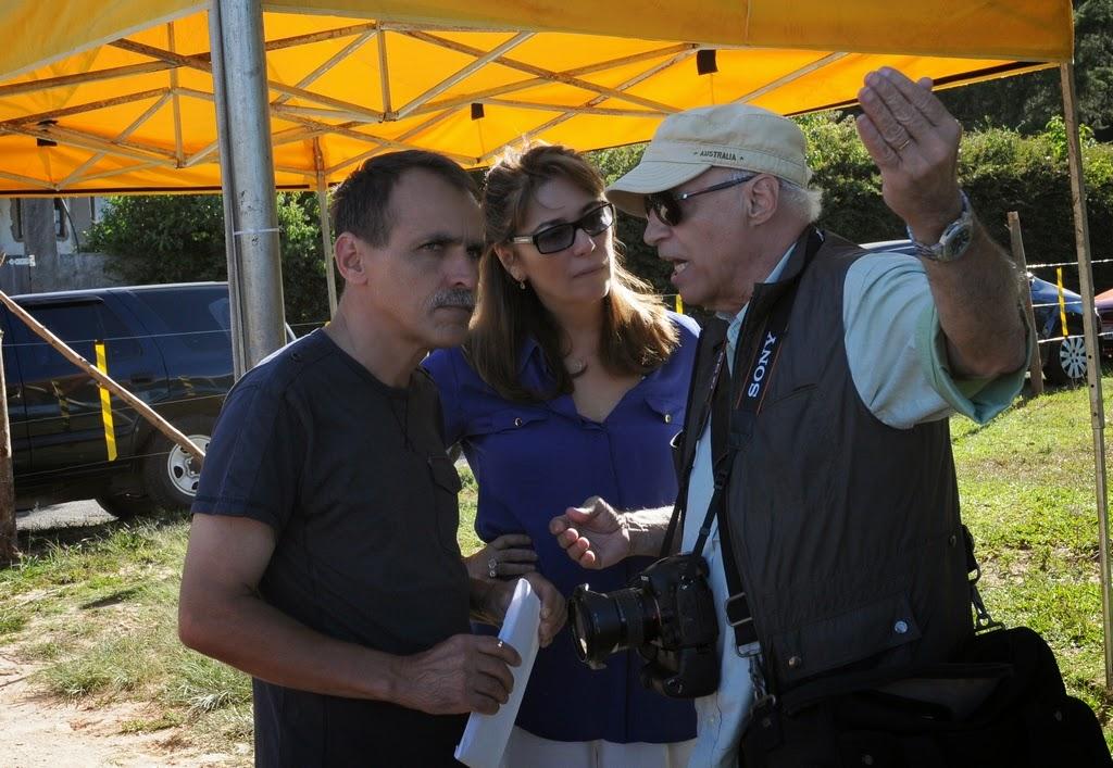 Wanderley Peres, Márcia Martins e o fotógrafo Ronaldo Câmara, que irá acompanhar todo o processo de restauração do Mirante