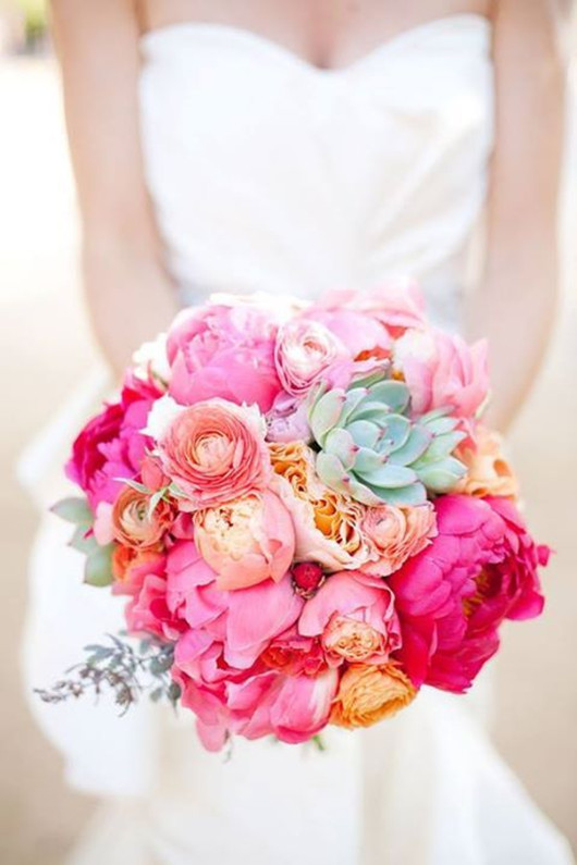 Bridal Bouquet With Color : Wedding ideas lisawola amazing flower