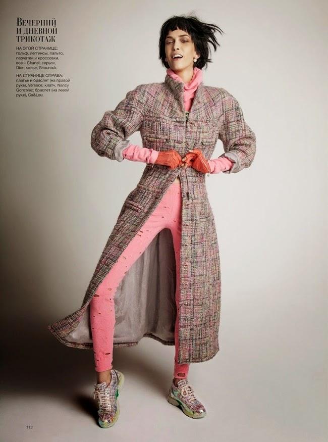 Harper's Bazaar Ukraine November 2014, Kristina Salinovic