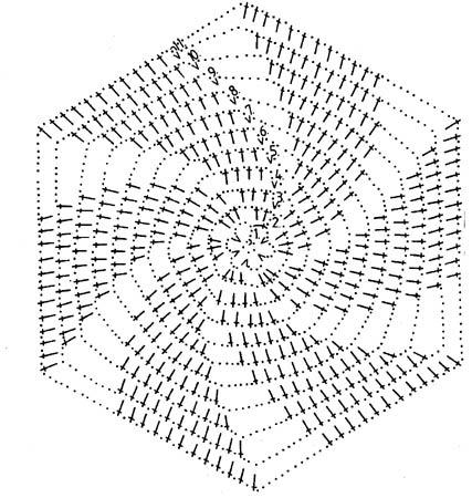 Вязание крючком спиральных мотивов 73