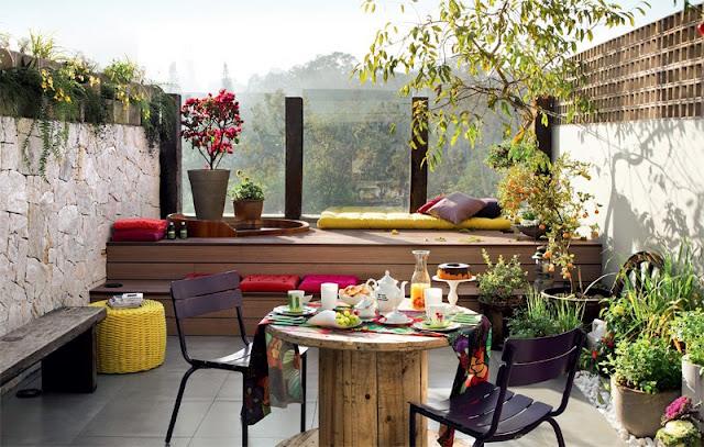 jardim em terraco pequeno:blog de decoração – Arquitrecos: Deck ou banco? Aproveitando todos