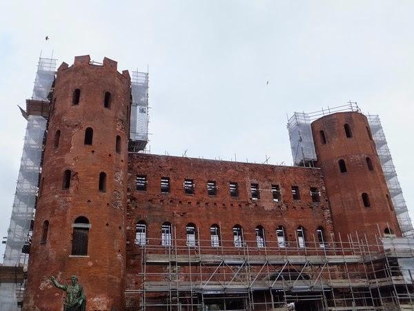 Turin Italie Via Garibaldi balade porte palatine