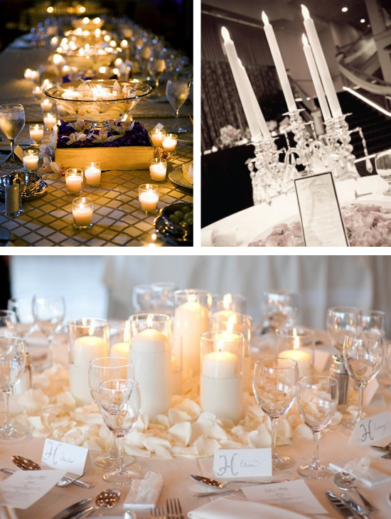 Classic Candle Wedding Centerpieces and Ideas