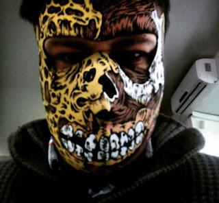 Road Rash Face Mask