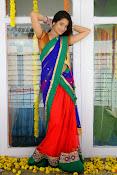 Santoshi sharma half saree pics-thumbnail-5