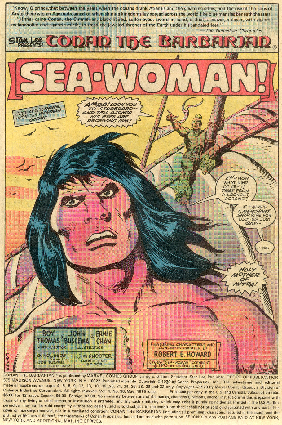 Conan the Barbarian (1970) Issue #98 #110 - English 2