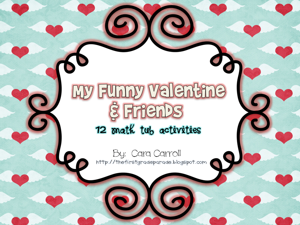 My Funny Valentine Math Tubs (1st Grade)