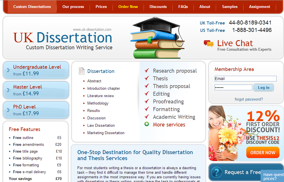 Dissertation Writing Service - Dissertation, Coursework