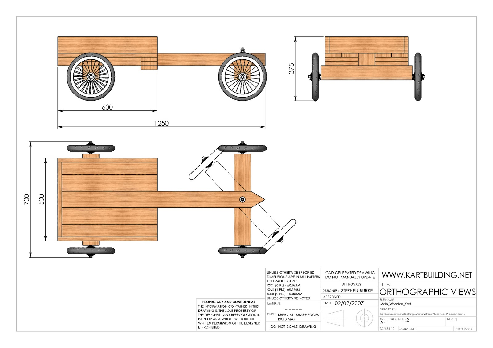 Wood Working Plans , Shed Plans and more: Wooden Go-Kart Plan