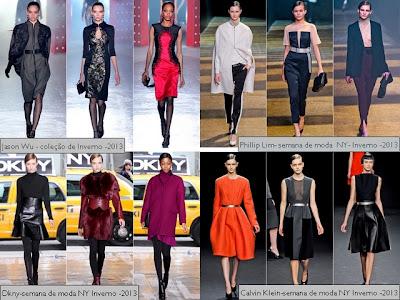 Inspirações das semanas de moda do exterior.
