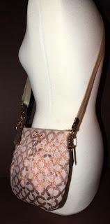 COACH Parker Op Art Swingpack Rose Bronze Fleck Crossbody Shoulder Bag 42531 NEW
