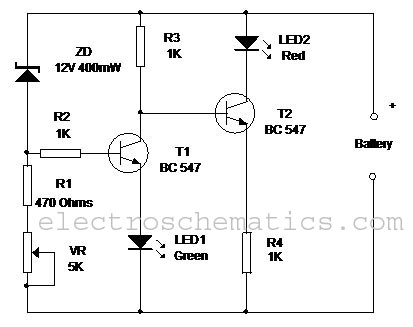 Battery Level Monitor Circuit additionally Index3 further 4 Wire Load Cell Wiring Diagram also Simple 6V Charger Battery Circuit Schematic Diagram L23746 moreover Electrostatic Charge Detector Electroscope. on metal detector schematic voltage