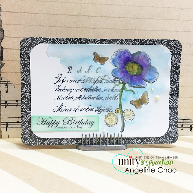ScrappyScrappy: Happy birthday card #scrappyscrappy #unitystampco #gracielliedesign #card #gansaitambi #watercolor