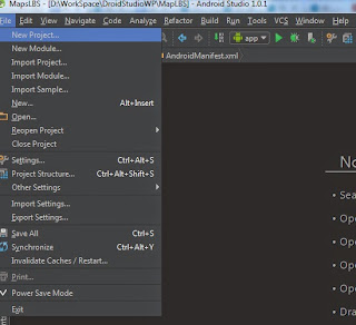 Create New Project Android Studio