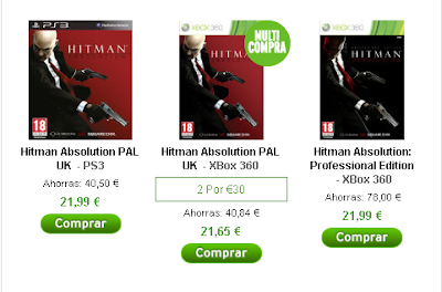 Precios de Hitman Absolution Professional en zavvi.es para PS3